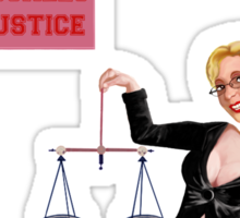 Boobapalooza: Balancing the Scales of Justice Sticker