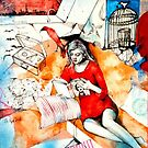 Ex Libris # 1 ( Poe and Bondage )  by John Dicandia  ( JinnDoW )