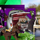 Green & purple picnic by FauxCollages