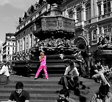 Pink in Piccadilly by drjones