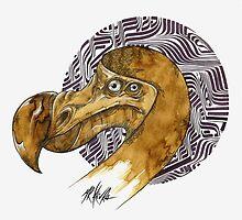 Dodo - coffee and ink - by MrKlevra
