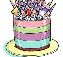 Katherine Sabbath Rainbow Cake by HungryDesigns