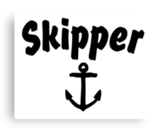 Skipper (Anchor) Canvas Print