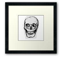 A Simple Skull Smirk Framed Print