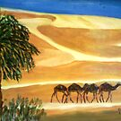 Camel train by GEORGE SANDERSON