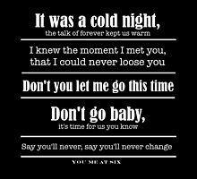 You Me at Six, Cold Night by liddlelorz