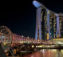 Singapore Helix Bridge at Marina Bay by tpixx