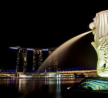 The Merlion at Marina Bay by tpixx
