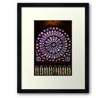 The North Rose window of Notre Dame Framed Print