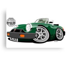 MG MGB 'rubber bumper' caricature green Canvas Print