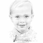 Nordic boy drawing by Mike Theuer