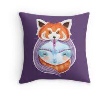 Huriyah & Red Panda Throw Pillow