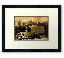 WW1 Army Truck Framed Print