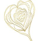 Gold Heart by KazM