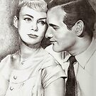 Paul Newman & Joanne Woodward by Karen Townsend