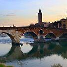 Ponte Pietra  by annalisa bianchetti