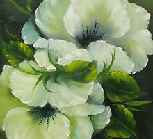 Blossoms In Green by elandria