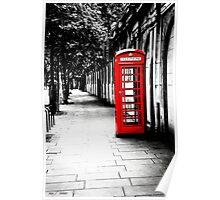 London Calling - Iconic British Phone Box Poster