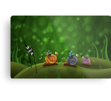 Snail Racing Metal Print