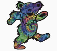 Grateful Dead Dancing Bear Trippy by Jason Levin