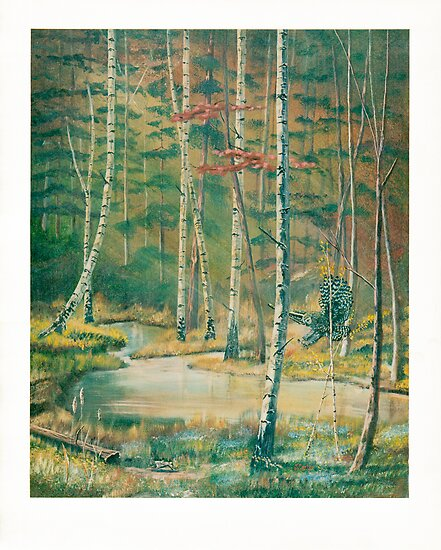 Deep Woods - Owl Hunting - Acrylics on Canvas by Gordon Pegler