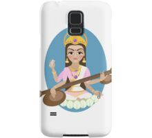 Hindu Goddess Saraswati. Vector hand drawn illustration. Samsung Galaxy Case/Skin