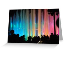 Watching Disney's World of Color Greeting Card