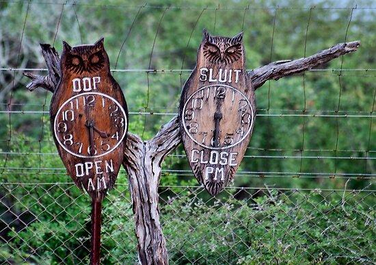 "A ""TIMELESS"" GATE CLOCK! by Magaret Meintjes"