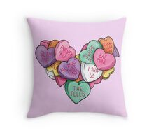 Candy Hearts - Internet Edition Throw Pillow