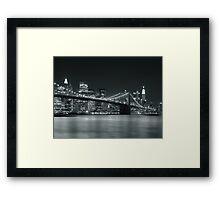 Silver Nights - New York Framed Print
