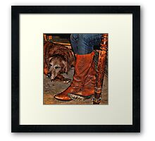 Boots and Buddy Painted Framed Print