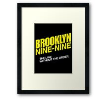 Brooklyn Nine-Nine Logo & Slogan Framed Print