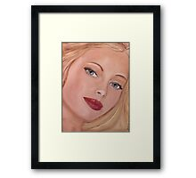 Blue eyed Girl Framed Print