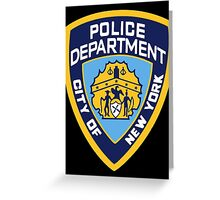 NYPD Badge (Also from Brooklyn 99) Greeting Card