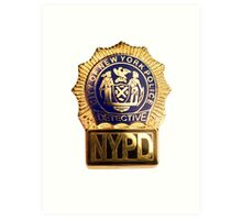 NYPD Detective Badge Art Print