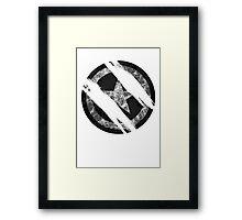 the shield destroyed Framed Print