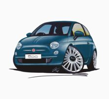 New Fiat 500 Jive Blue by Richard Yeomans