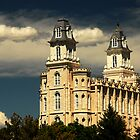 Manti Temple - Summer Light by Ryan Houston