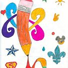 Happy Pencil by dramadevil