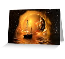Molten Sunset Greeting Card