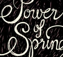 Power of spring Sticker