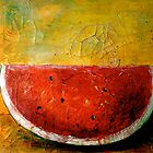 Folk Art Melon  by ©Janis Zroback