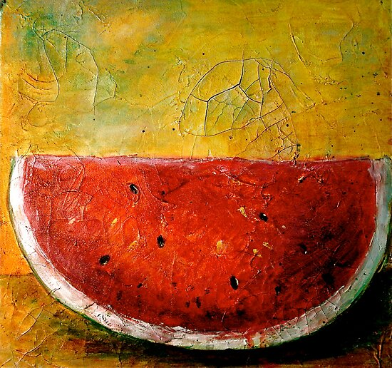 Folk Art Melon  by © Janis Zroback