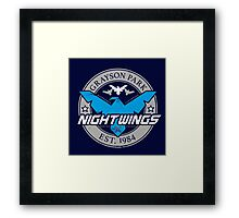 Grayson Park Nightwings Grey Blue (02 of 04) Framed Print