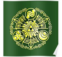 The Legend of Zelda - Hylian Design. Poster