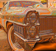 Art & a 71 Caddy by Larry Llewellyn