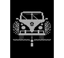 Knit Style Volks Camper Van Photographic Print
