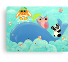 Whale Of A Time! Canvas Print