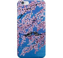 Love among the cherry blossoms iPhone Case/Skin