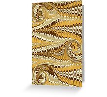Mirrored Waves Greeting Card